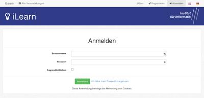 Startseite des iLearn